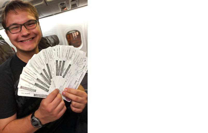 Alex with tickets