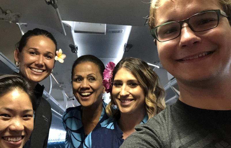 Alex with NI flight crew