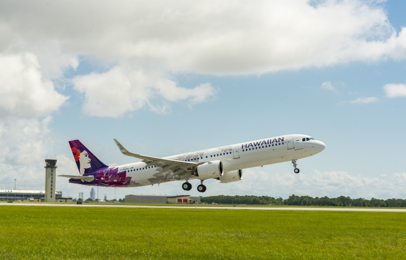 Hawaiian Airlines - 1st Flight - 1st Neo from Mobile FAL