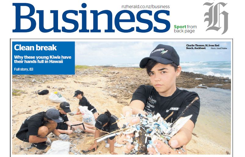 NZ Herald Business Front Page