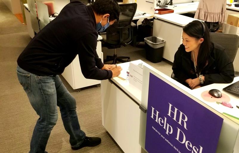 HR Help Desk employee sign in