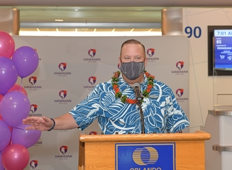 Jeff Helfrick, vice president of airport operations at Hawaiian Airlines