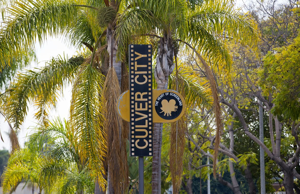 Culver City sign w/palms