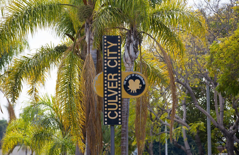 Culver City sign w/palms