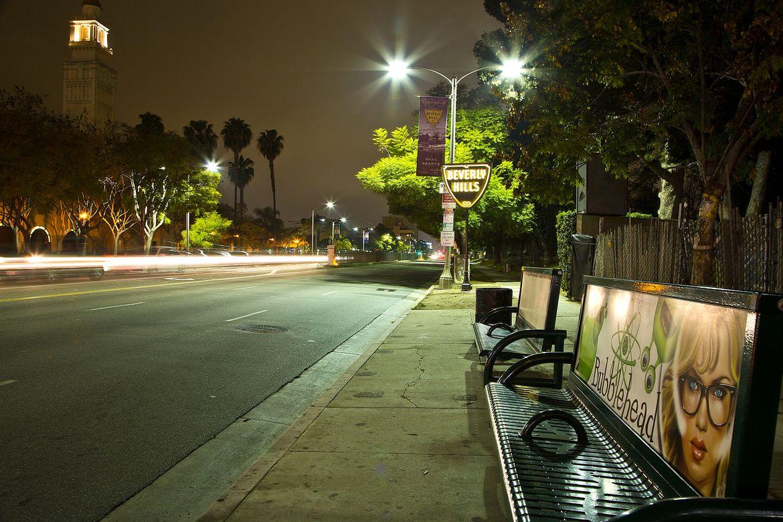 Beverly Hills street bench