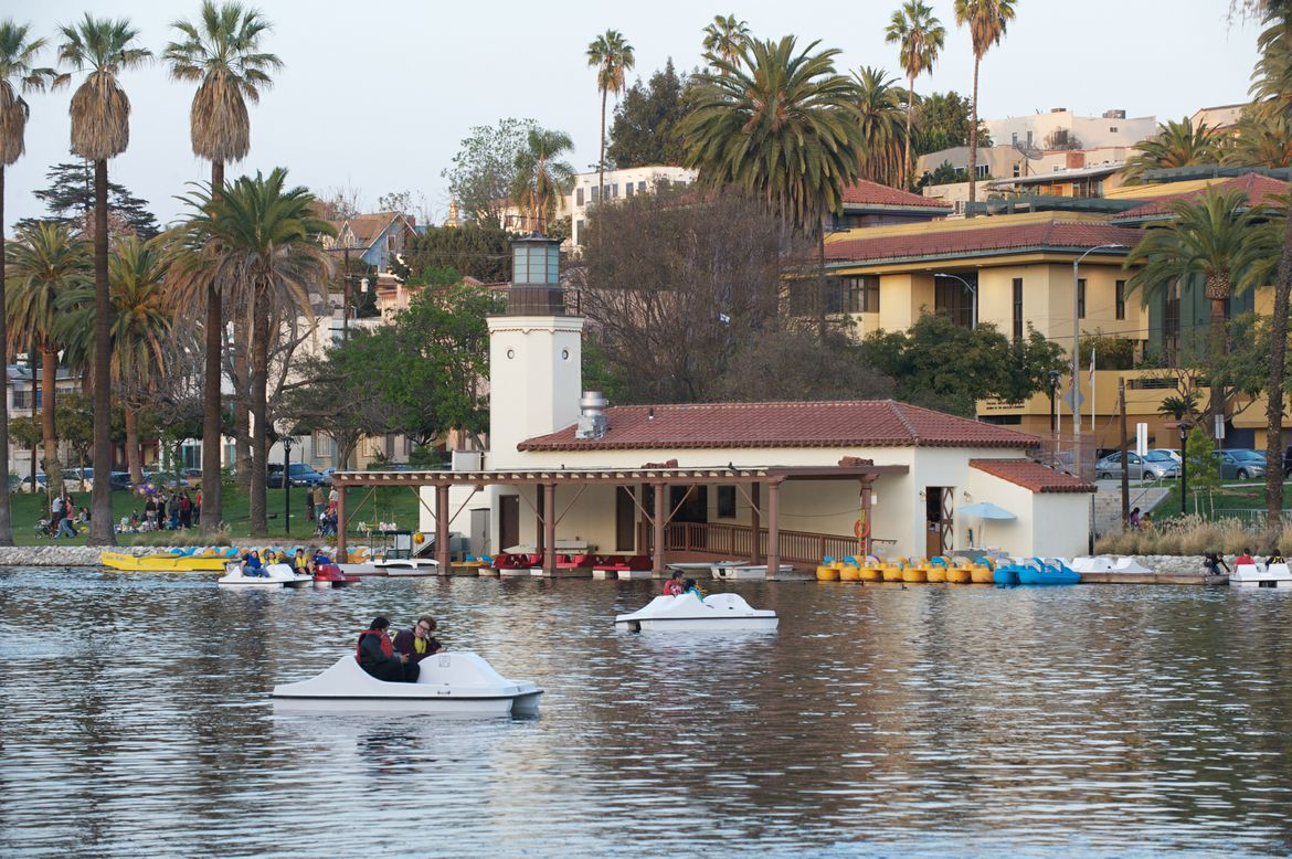 Paddle Boats in Silver Lake