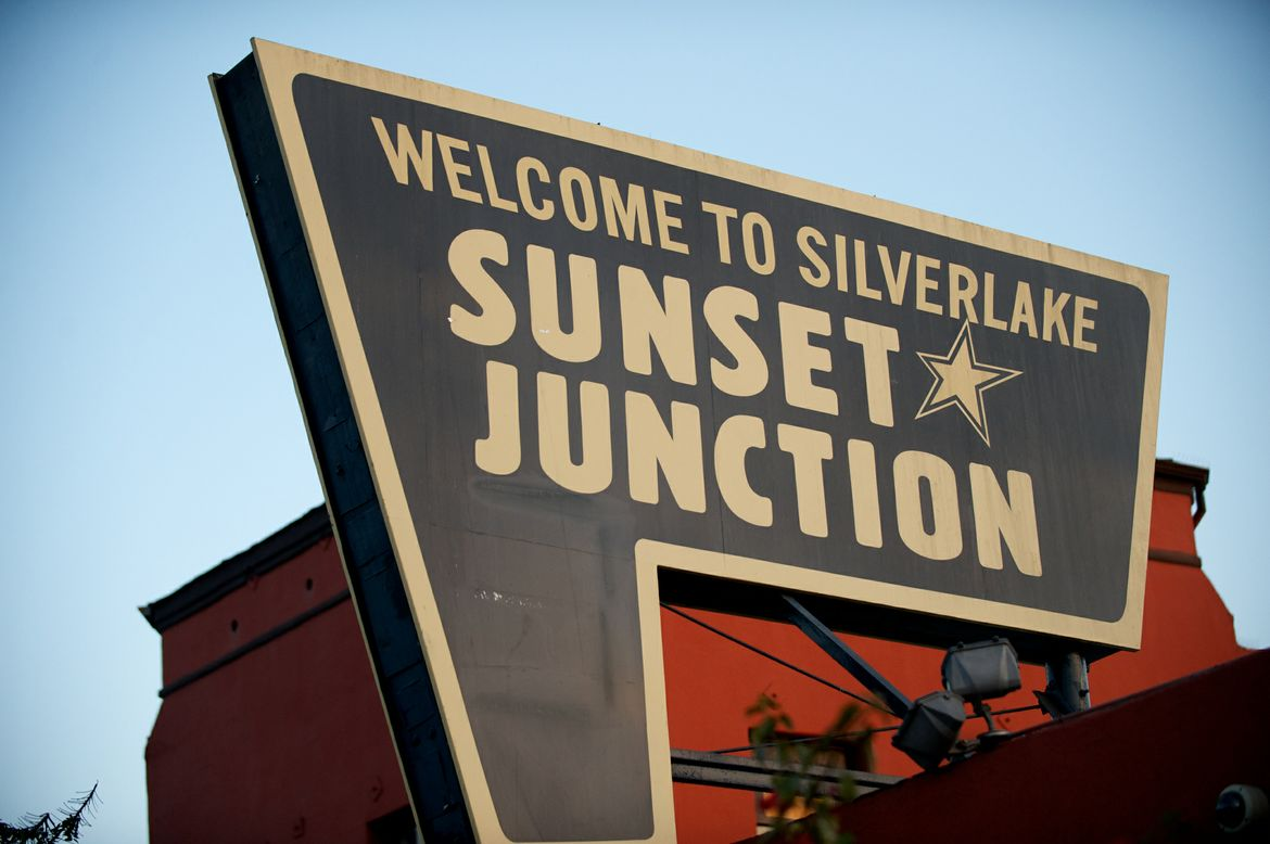 Sunset Junction signage