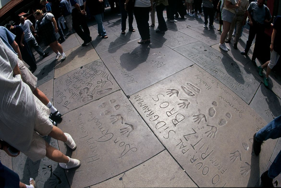 Cement Hand Prints at TCL Chinese Theatre
