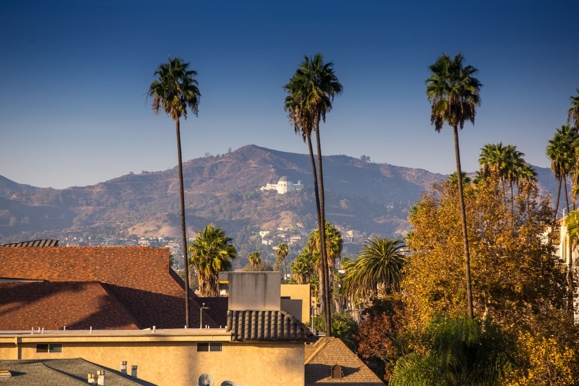 Hollywood Hills with Griffith Observatory