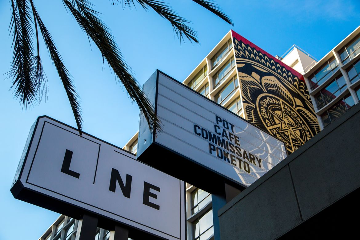 The Line Hotel signage