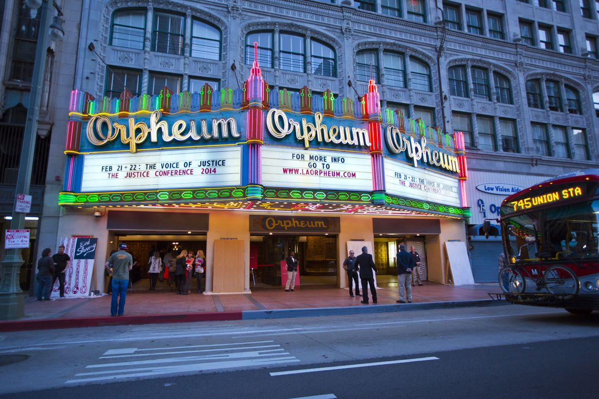 Orpheum theatre at dusk