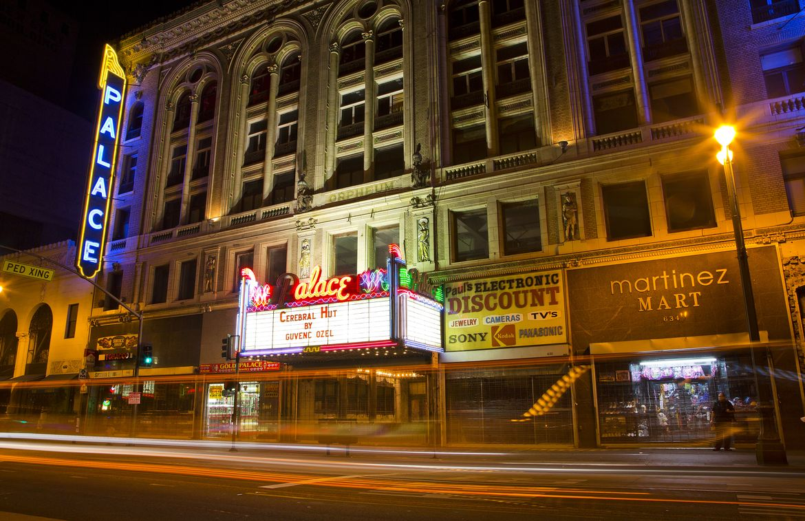 Palace theatre at night