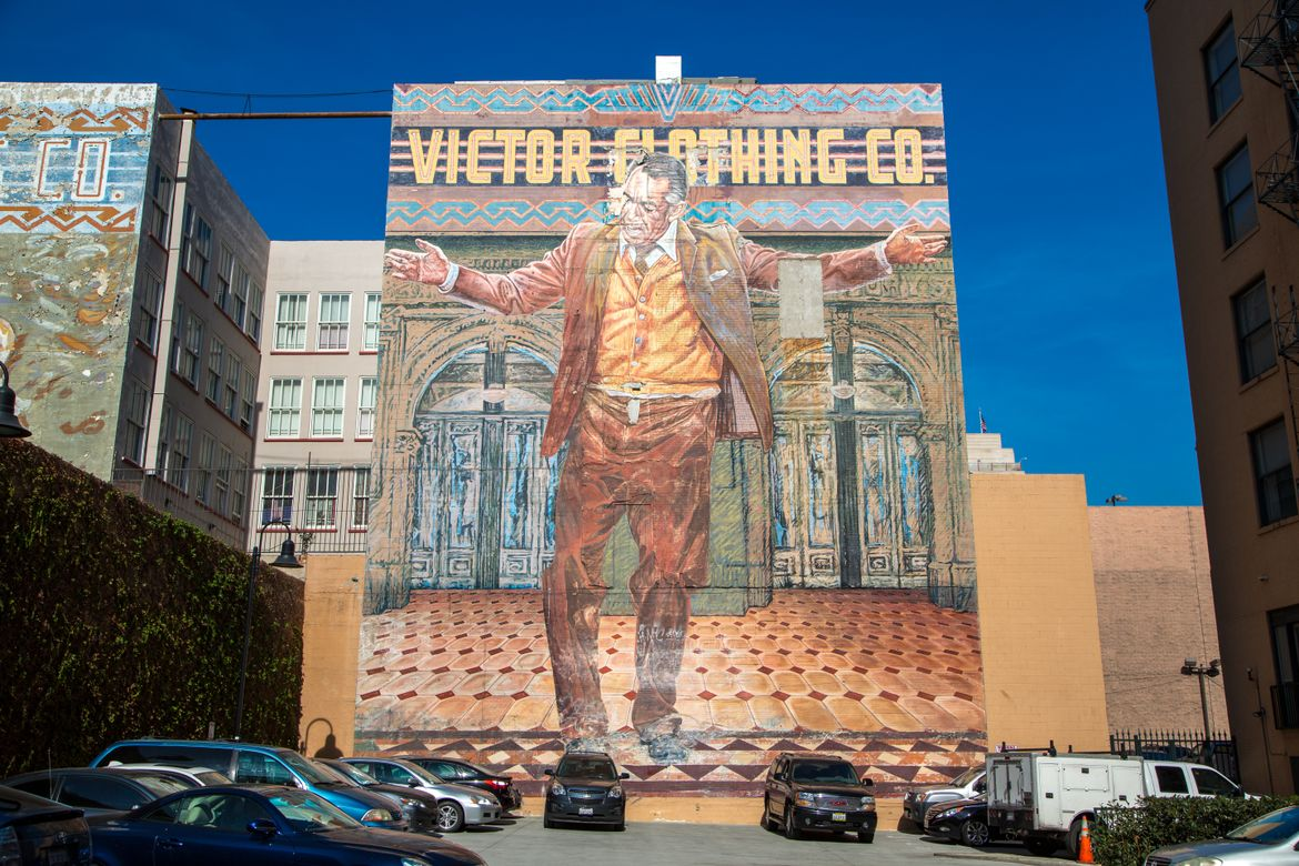 Victor Clothing mural
