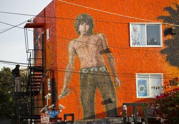 Jim Morrison mural - Venice Beach