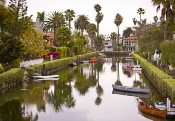 Venice canals w/canoes