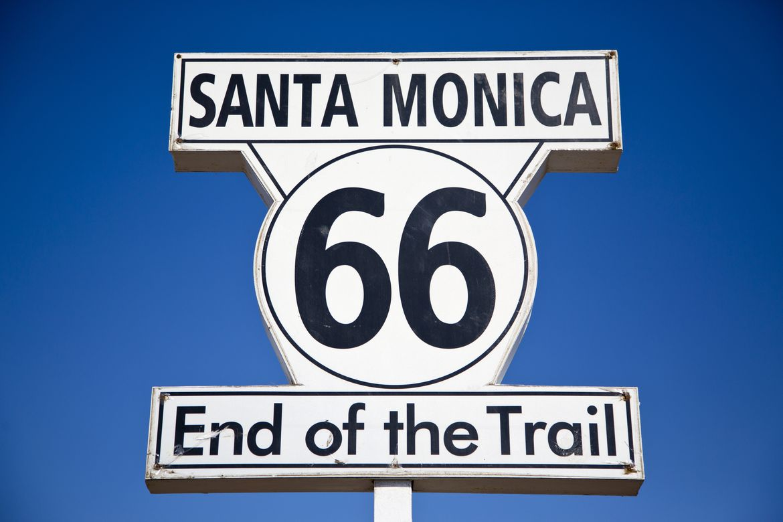 Route 66 sign - Santa Monica
