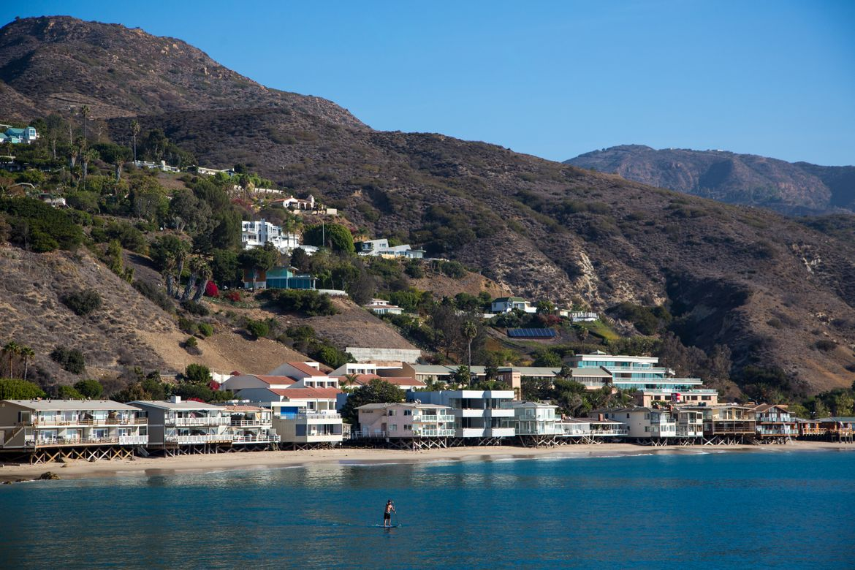 NEED TO RE-ORGANIZE Malibu coast w/paddle boarder