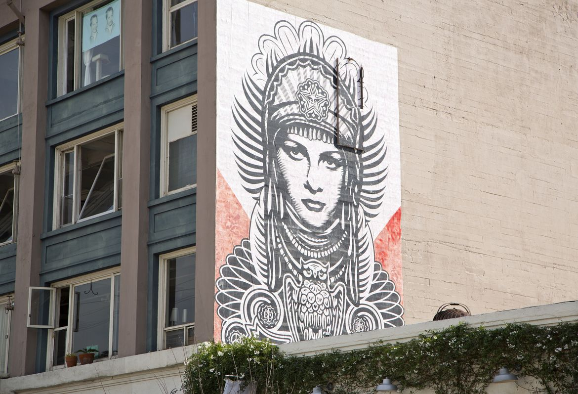 Arts District Mural by Shepard Fairey