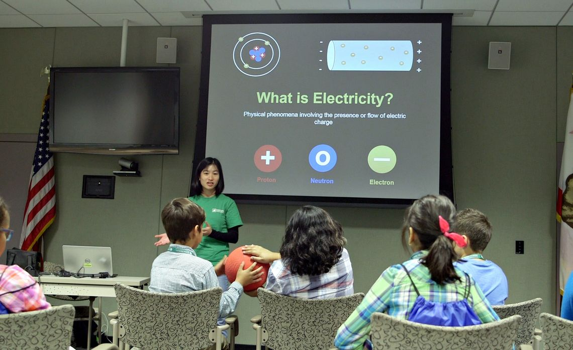 CTY Students Learning About Electricity and Sustainablity
