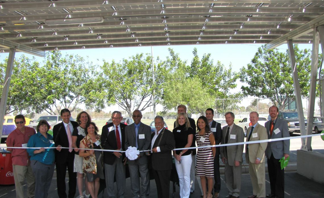Ribbon Cutting Solar Carport