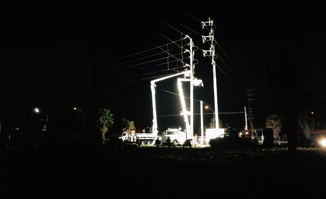 Transmission Crews at Work in Santa Ana