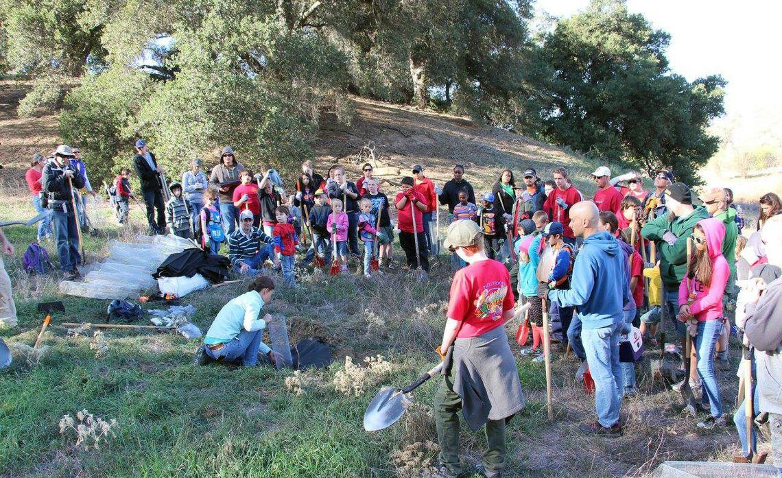 Riverside Land Conservancy Acorn Planting