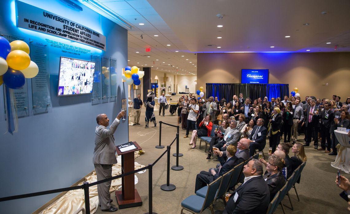UCI Donor Wall Unveiling