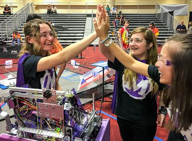 All-Girls Team Inspires at Robotics Competition