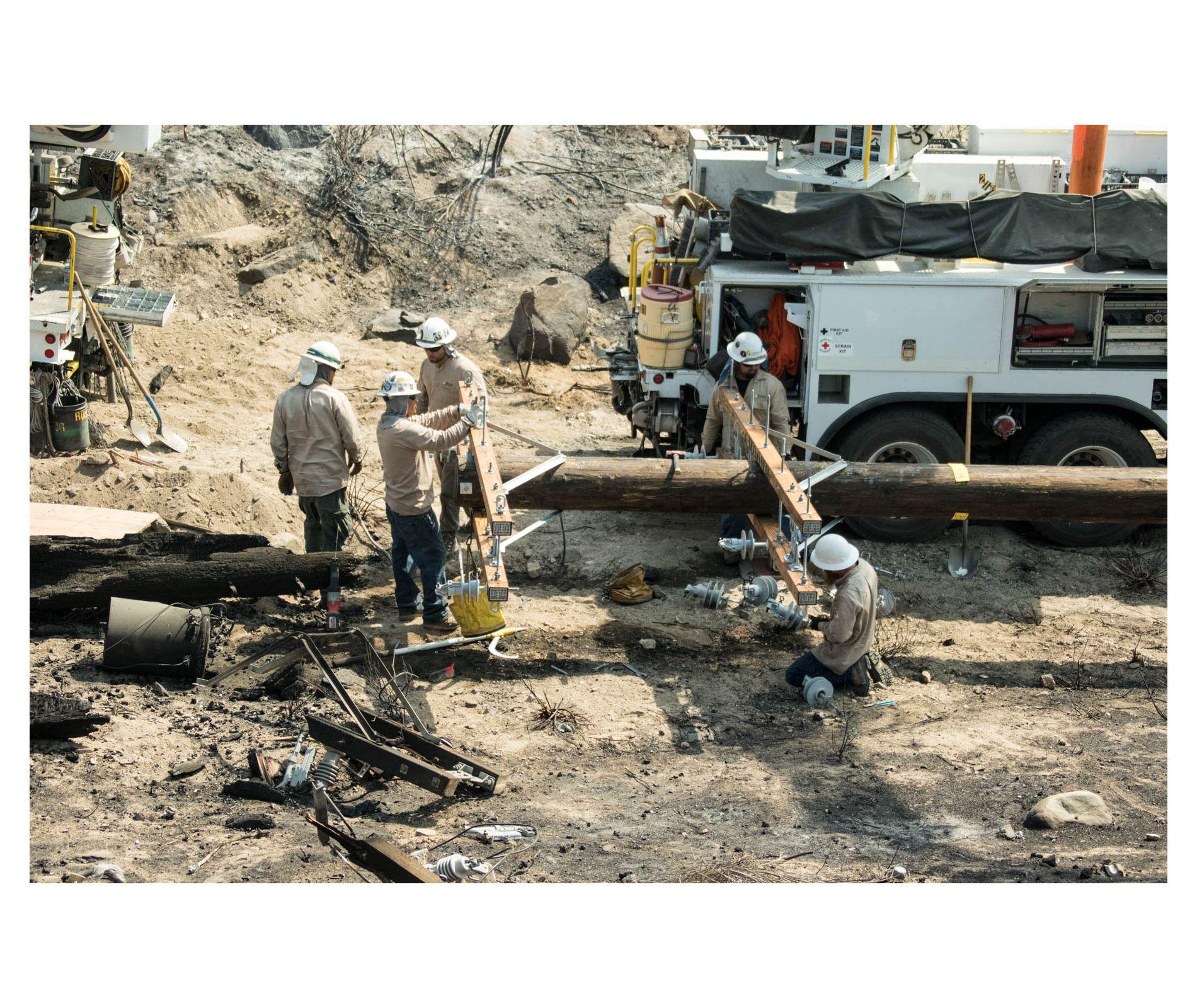 SCE Crews Begin Restoration Efforts Following Blue Cut Fire