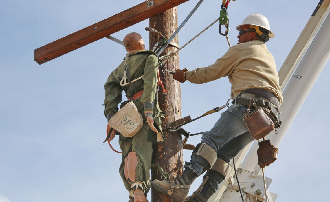 Training for International Lineman's Rodeo
