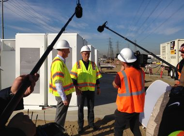 BBC Comes to SCE's Mira Loma Battery Storage Facility to Film Documentary About Clean Energy