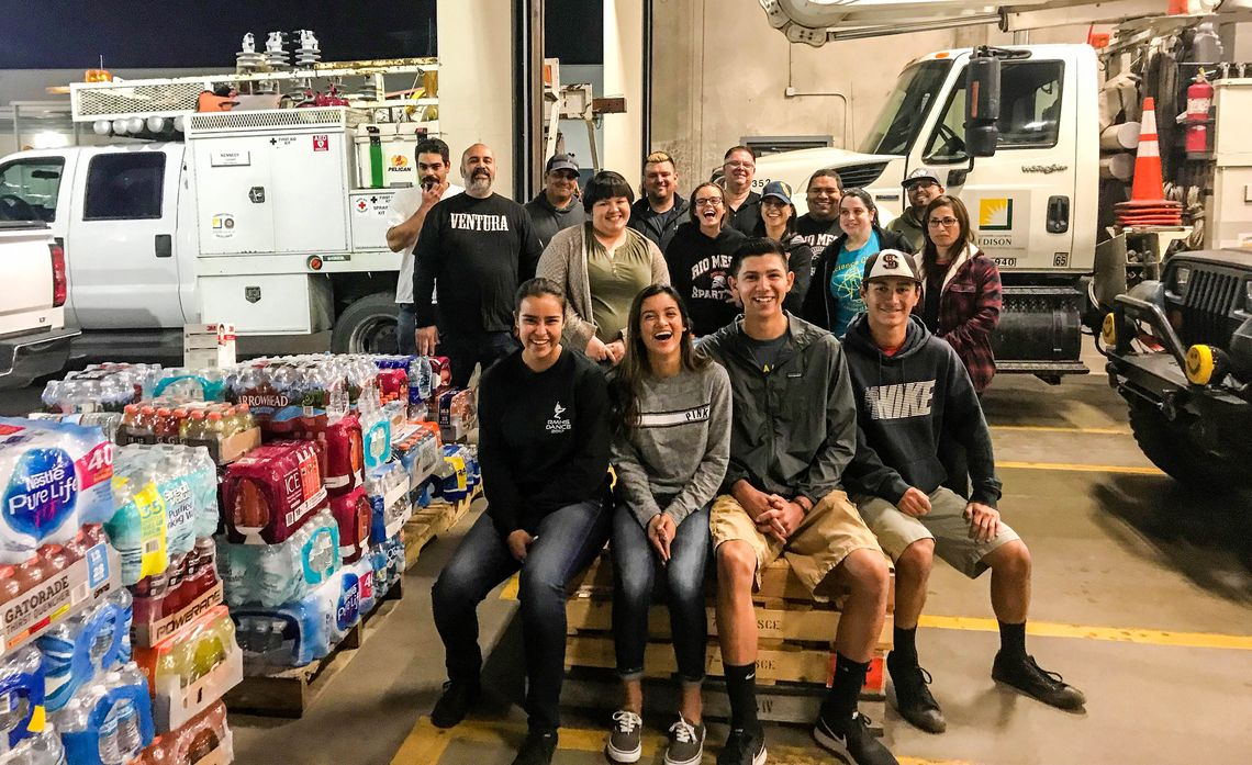 High School Students in Oxnard Collect Donations for SCE Crews Working Wildfires