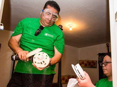 Volunteers Install Free Fire Alarms in Rosemead Community