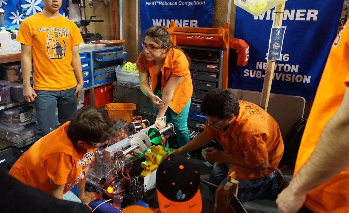 High School Teams Compete in FIRST Robotics Orange County Regionals