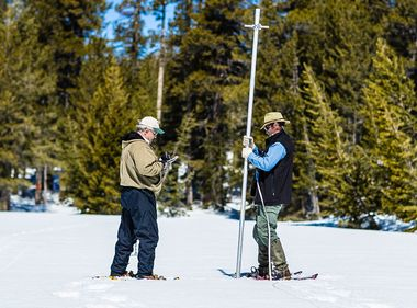 Snowshoes, Skis Help SCE Hydrographers Measure Near-Record Snowpack