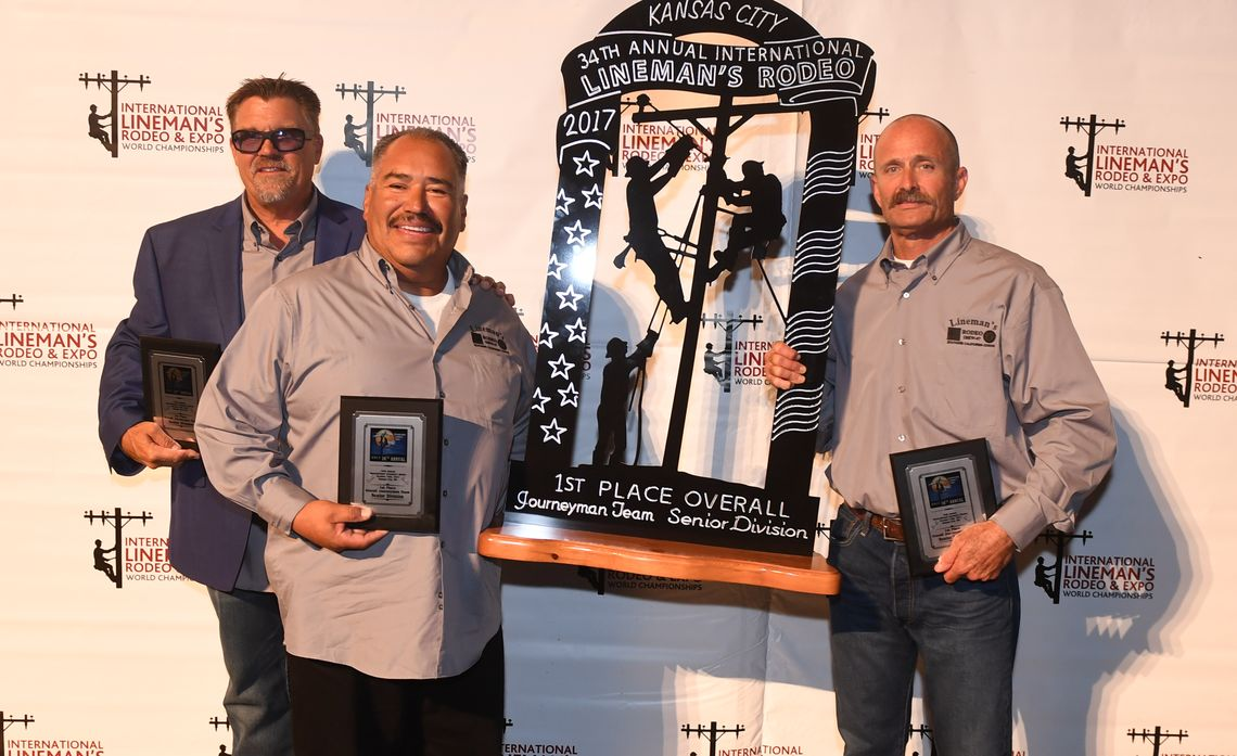 SCE Journeymen Take First Place at International Lineman's Rodeo in Overall Senior Division