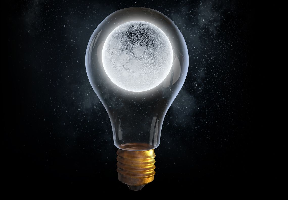 Moon light bulb