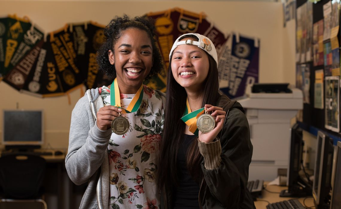 Edison Scholars 2018 - Avey Songco and Shavonna Jackson