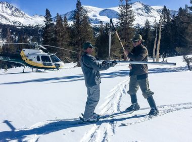 Late Storms Give a Boost to Sierra Snowpack
