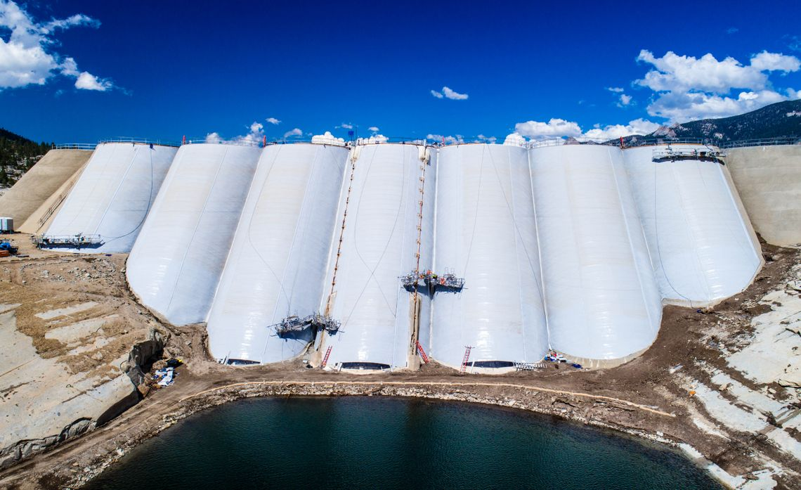 Florence Lake Dam Liner Project Nears Completion