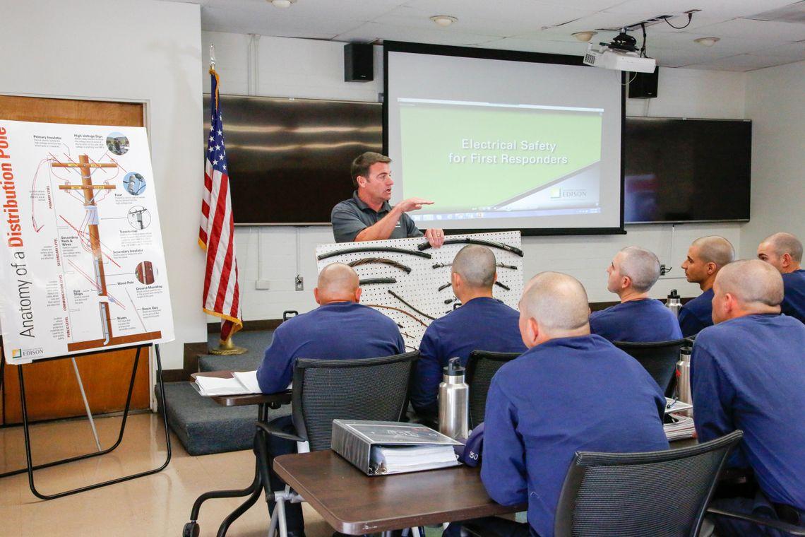 LA County Fire Scott Brown in class by Jean Anderson
