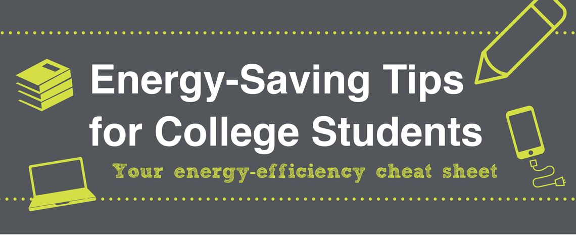 Energy Tips for College Students Header