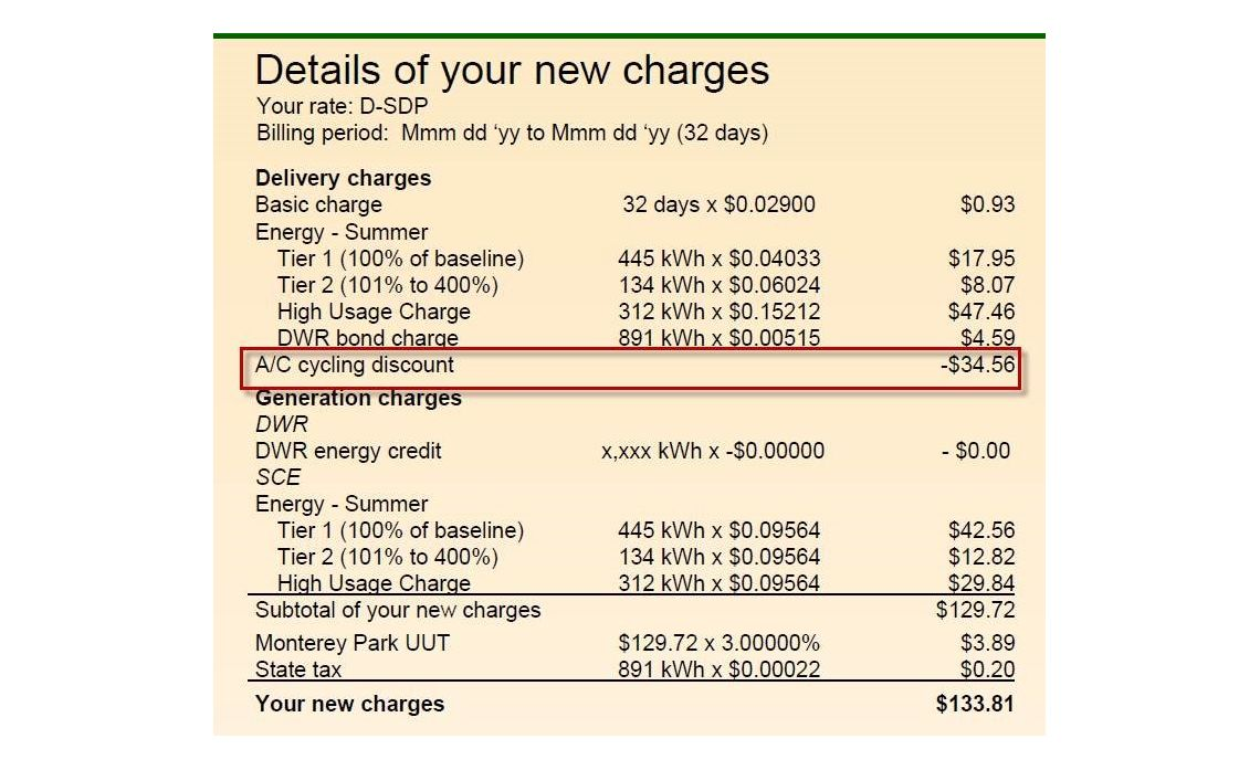 Summer Discount Plan - How to Find Bill Credits