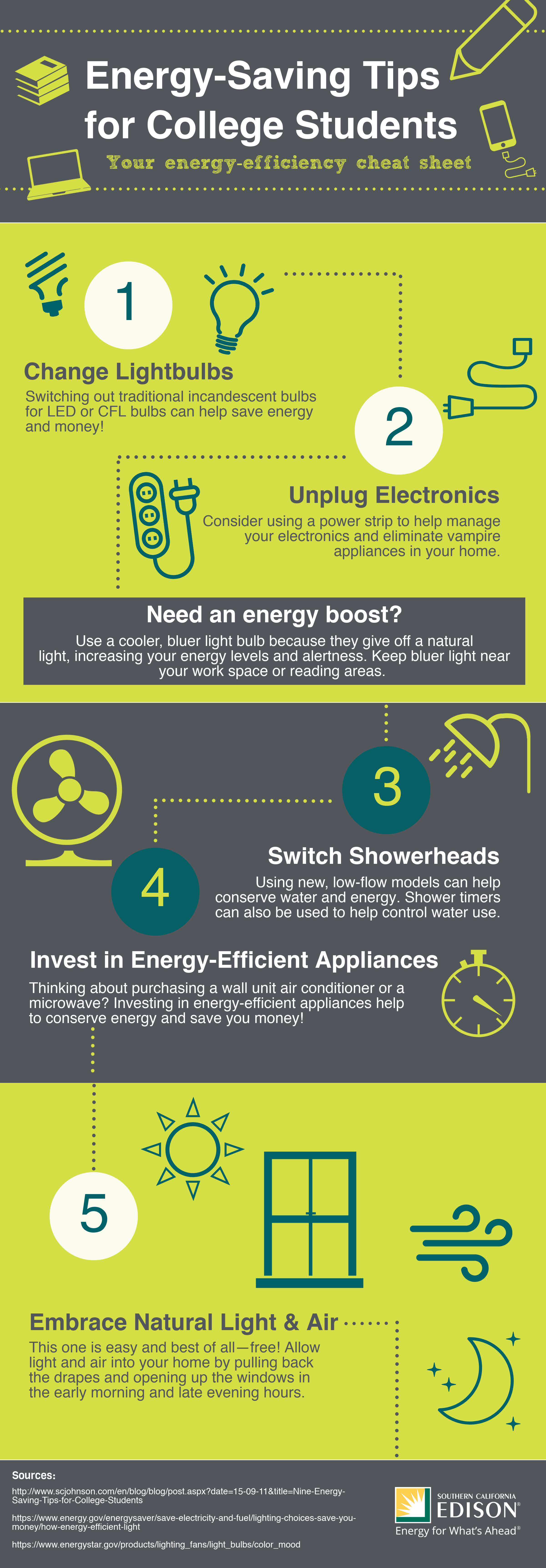 energy tips for college students