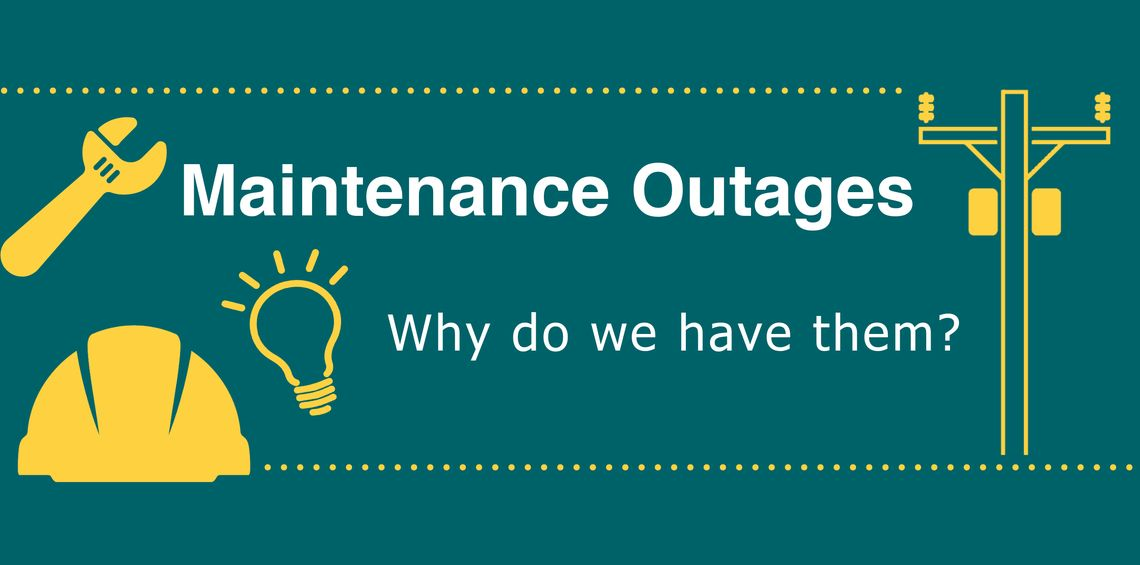 Maintenance Outage Infographic header