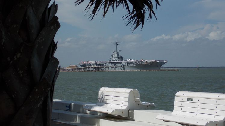 A beautiful view of the USS Lexington