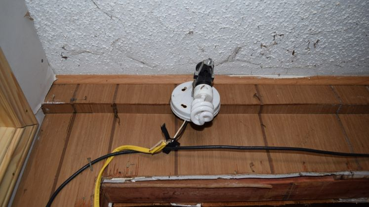 Exposed wiring
