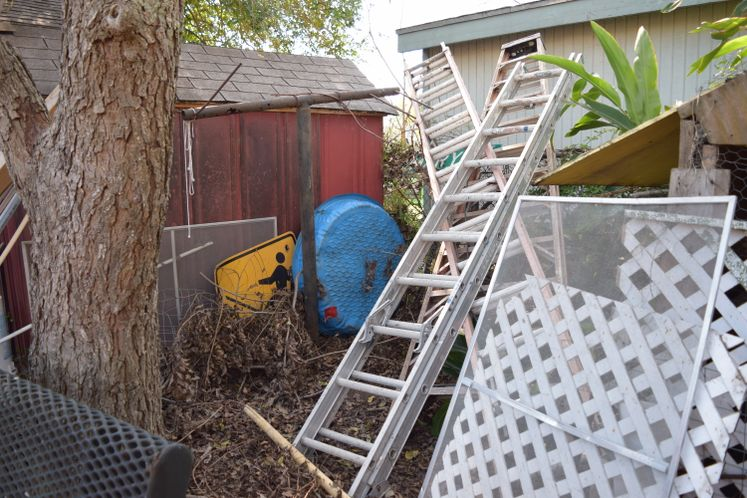 Resident's backyard