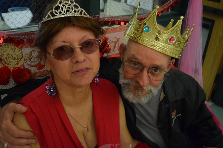 King and Queen, Valentine's dance at Garden Senior Center