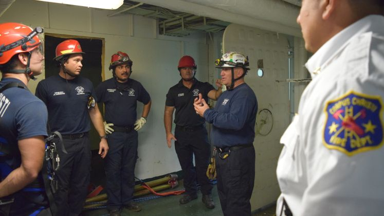 CCFD Training at USS Lexington